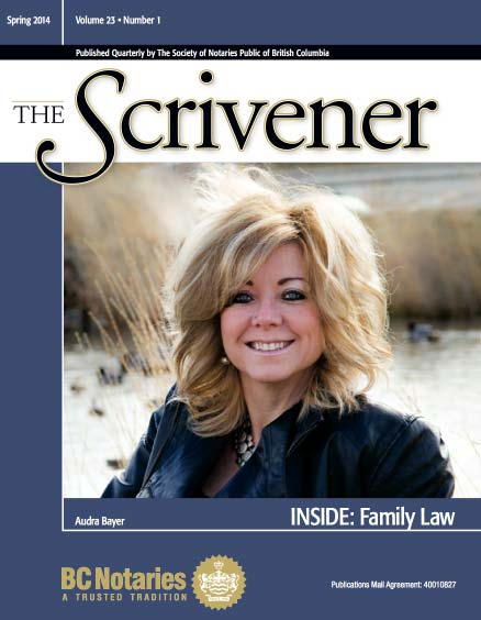 Scrivener Magazine, Audra Bayer